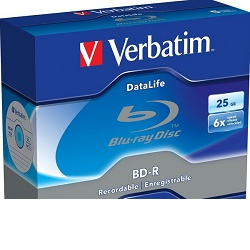 Verbatim BD-R 25GB 6x Blu-Ray médium 1ks 43840