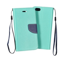 Pouzdro FANCY BOOK IPHONE 4 Mint-Navy