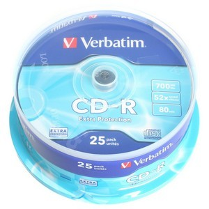Verbatim CD-R 700MB 52x, AZO, cakebox, 25ks 43432