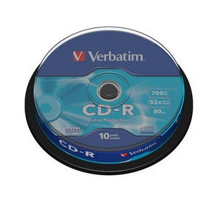 Verbatim 43437 CD-R 700MB 52x spindle 10ks